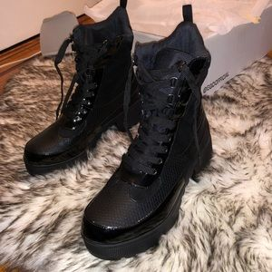 EGO SHOES Commander Chunky Sole Lace Up Boots